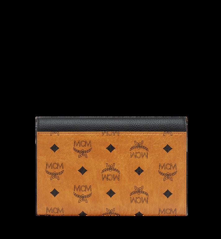 MCM Flap Wallet with Pouch in Visetos Leather Block Black MYL8AVI14BK001 Alternate View 3