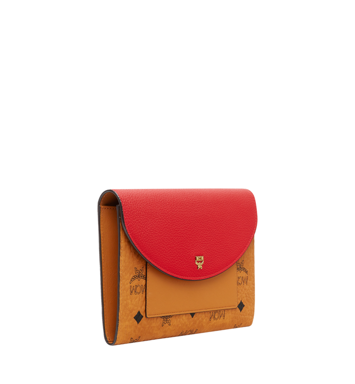 MCM Flap Wallet with Pouch in Visetos Leather Block Red MYL8AVI14RU001 Alternate View 2