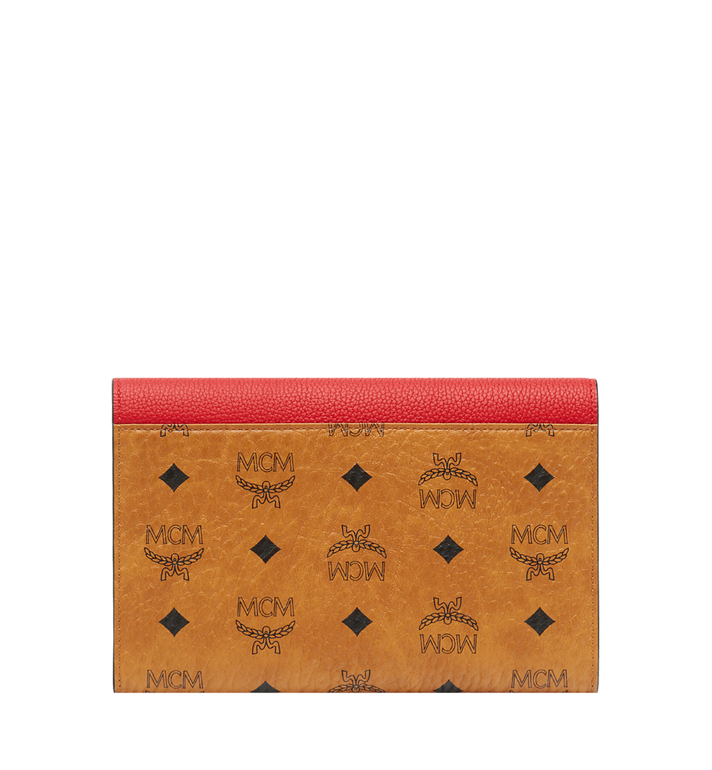 MCM Flap Wallet with Pouch in Visetos Leather Block Red MYL8AVI14RU001 Alternate View 3