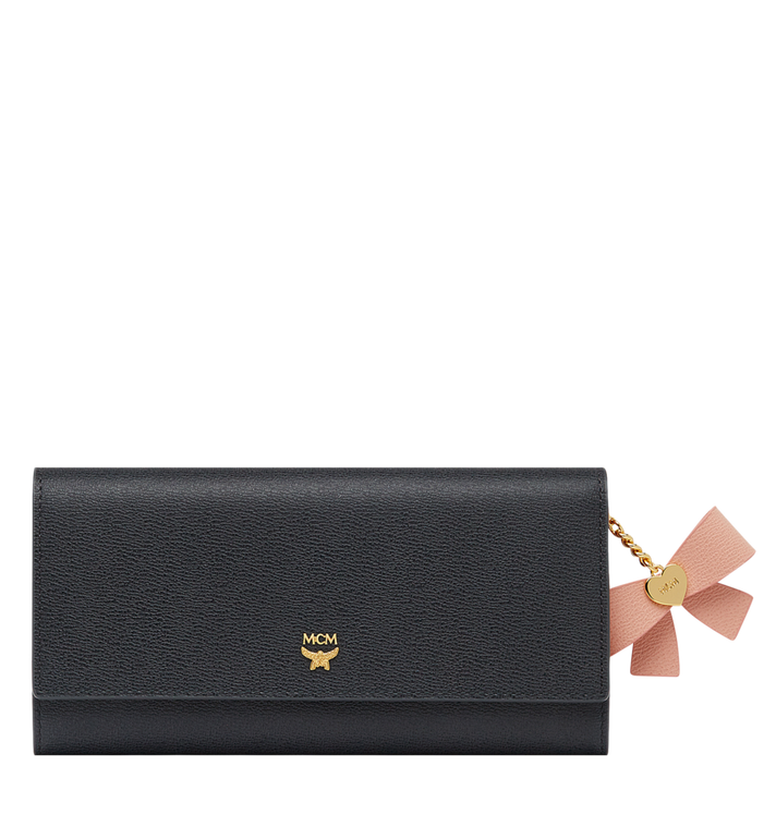 MCM Mina Bow Charm Three Fold Wallet in Leather Alternate View