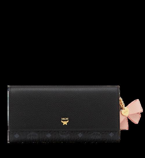 Mina Bow Charm Three Fold Wallet