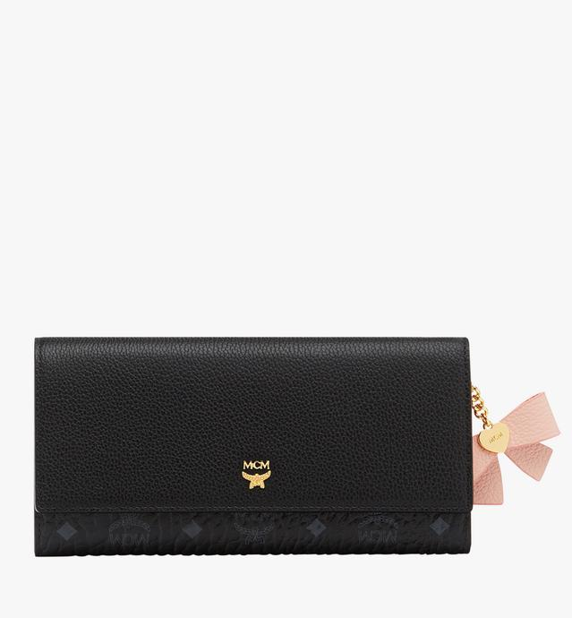 Mina Bow Charm Three Fold Wallet