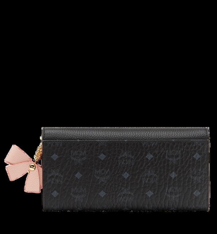 MCM Mina Bow Charm Three Fold Wallet Black MYL8SLL94BK001 Alternate View 3