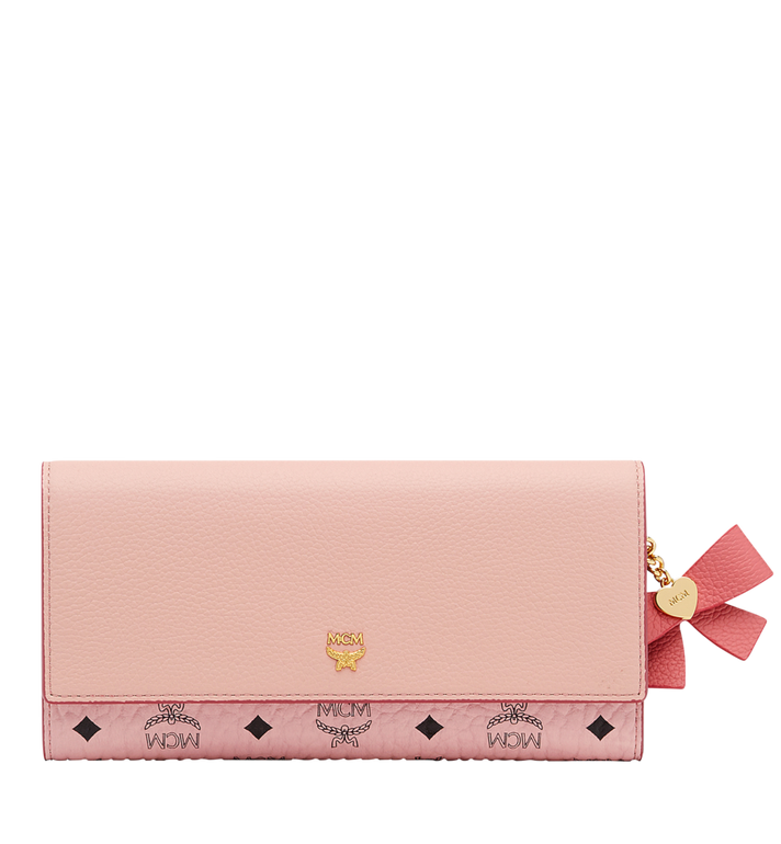 MCM Mina Bow Visetos 拼色皮革三折钱包 Pink MYL8SLL94PV001 Alternate View 1