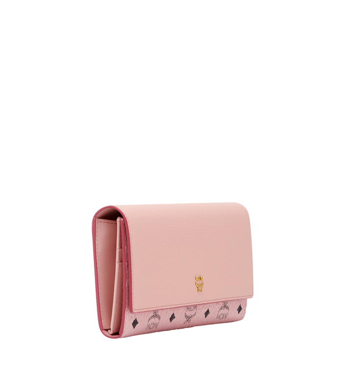 MCM Mina Bow Charm Three Fold Wallet Pink MYL8SLL94PV001 Alternate View 2