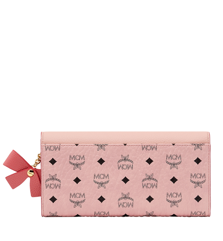 MCM Mina Bow Charm Three Fold Wallet Pink MYL8SLL94PV001 Alternate View 3