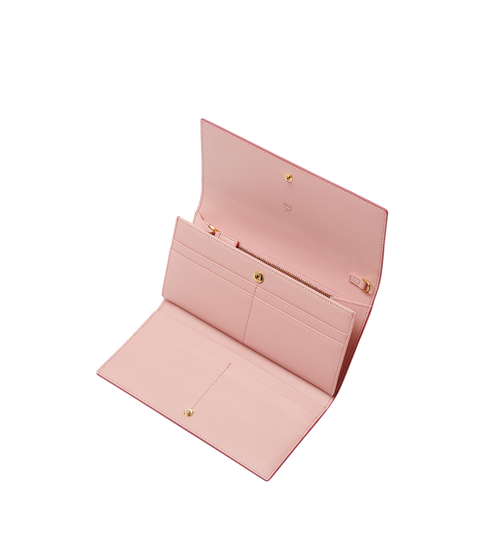 MCM Mina Bow Charm Three Fold Wallet Pink MYL8SLL94PV001 Alternate View 4