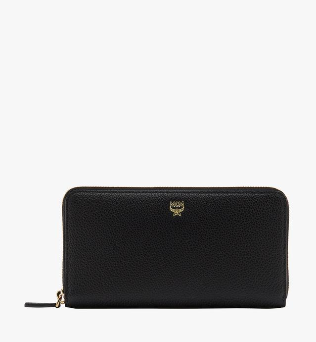 Milla Zip Around Wallet in Grained Leather