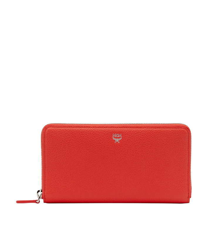 MCM Milla Zip Around Wallet in Grained Leather Alternate View
