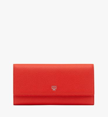 Milla Three Fold Wallet in Grained Leather