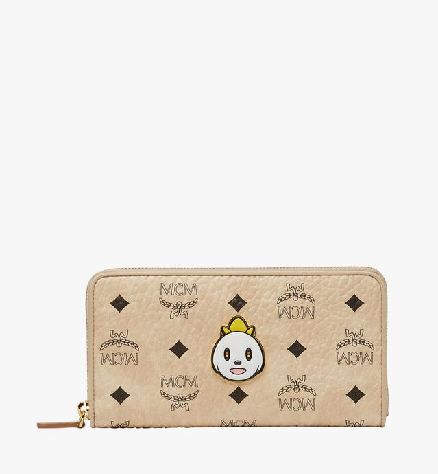 MCM x Eddie Kang Zip Around Wallet in Visetos