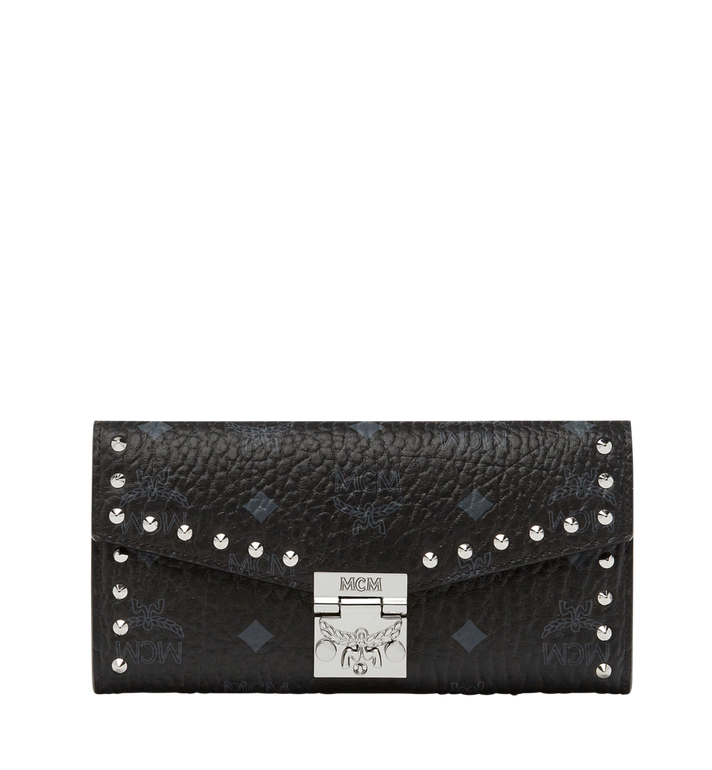 MCM Patricia Studded Crossbody Wallet in Visetos Alternate View
