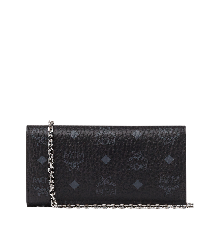 MCM Patricia Studded Crossbody Wallet in Visetos Alternate View 3