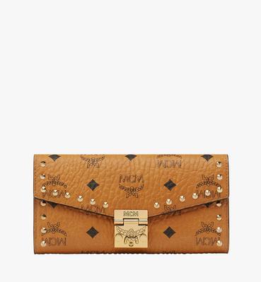 Patricia Studded Crossbody Wallet in Visetos