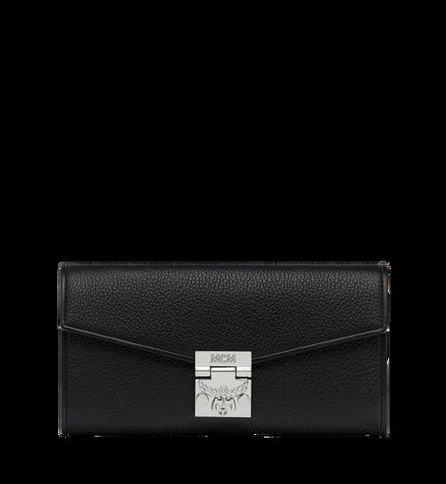 Patricia gefaltete Crossbody Brieftasche aus gemasertem Leder
