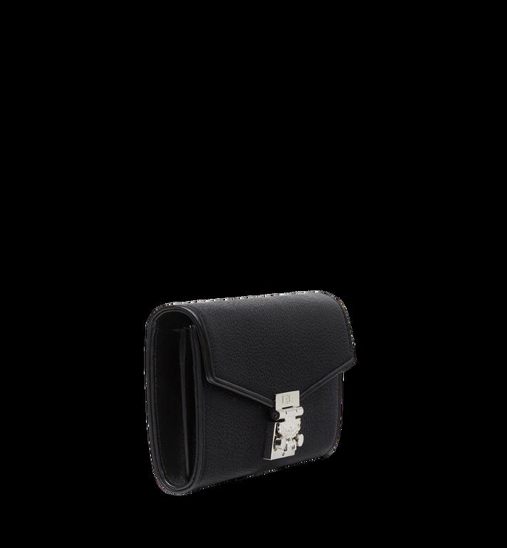 MCM Patricia gefaltete Crossbody Brieftasche aus gemasertem Leder Black MYL8SPA41BK001 Alternate View 2