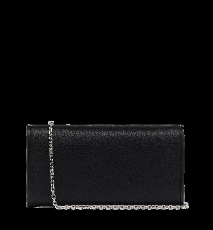 MCM Patricia gefaltete Crossbody Brieftasche aus gemasertem Leder Black MYL8SPA41BK001 Alternate View 3
