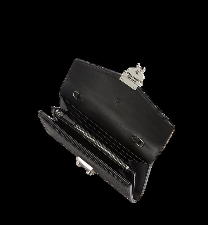 MCM Patricia gefaltete Crossbody Brieftasche aus gemasertem Leder Black MYL8SPA41BK001 Alternate View 4
