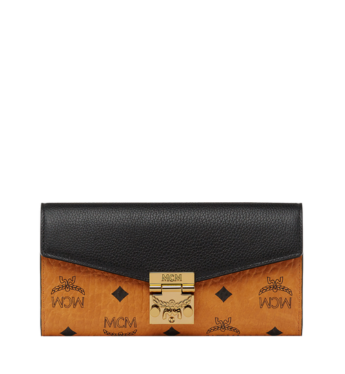 Patricia Crossbody Wallet in Visetos Leather Block