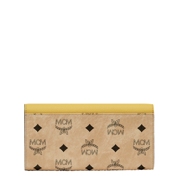 MCM Two Fold Wallet in Visetos Colorblock Leather Alternate View 3