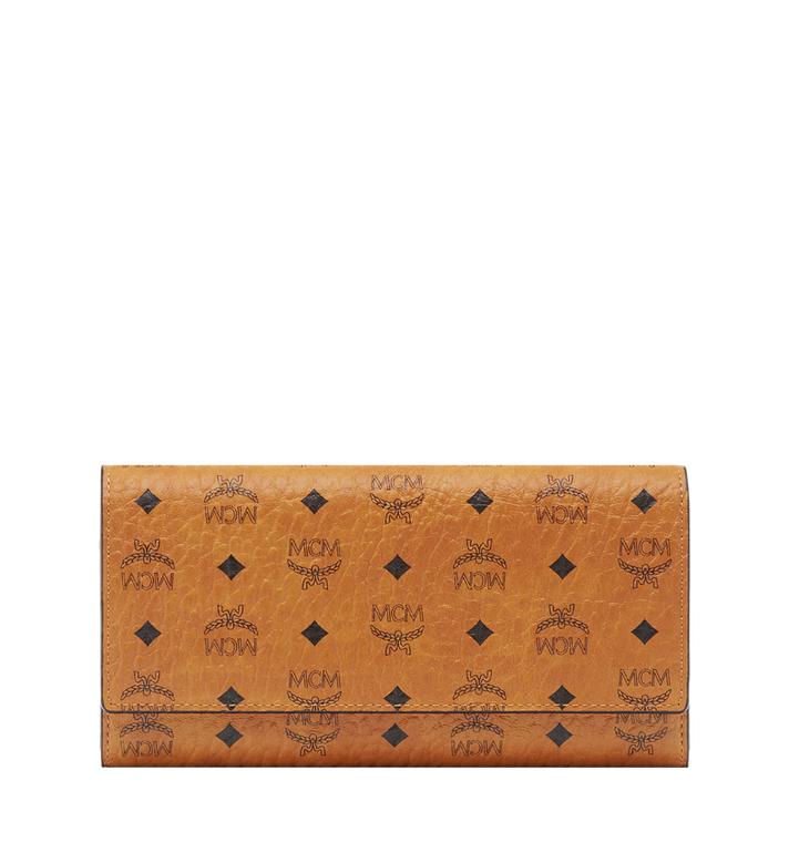 MCM Three Fold Wallet in Visetos Original Cognac MYL8SVI48CO001 Alternate View 1