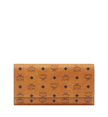 MCM Three Fold Wallet in Visetos Original Alternate View 1