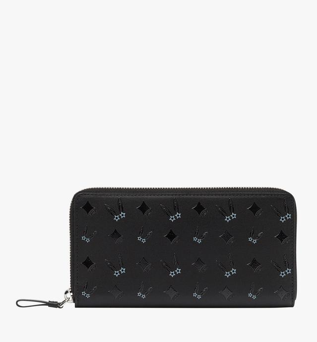 Star Eyed Bunny Zip Around Wallet in Leather