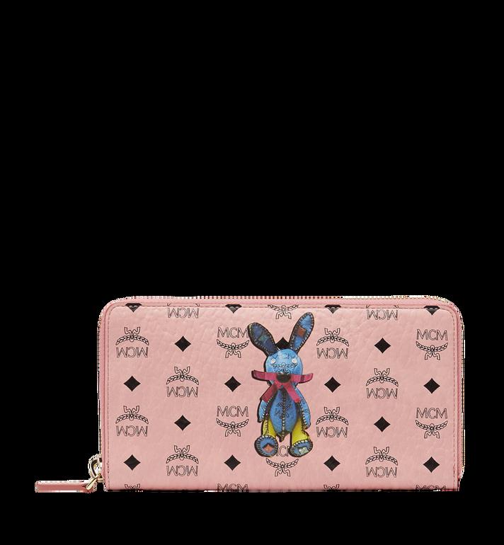 MCM Rabbit Zip Around Wristlet Wallet in Visetos Alternate View