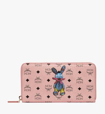 Rabbit Zip Around Wristlet Wallet in Visetos