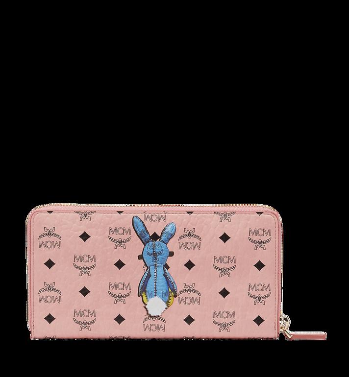 MCM Rabbit Zip Around Wristlet Wallet in Visetos Alternate View 3