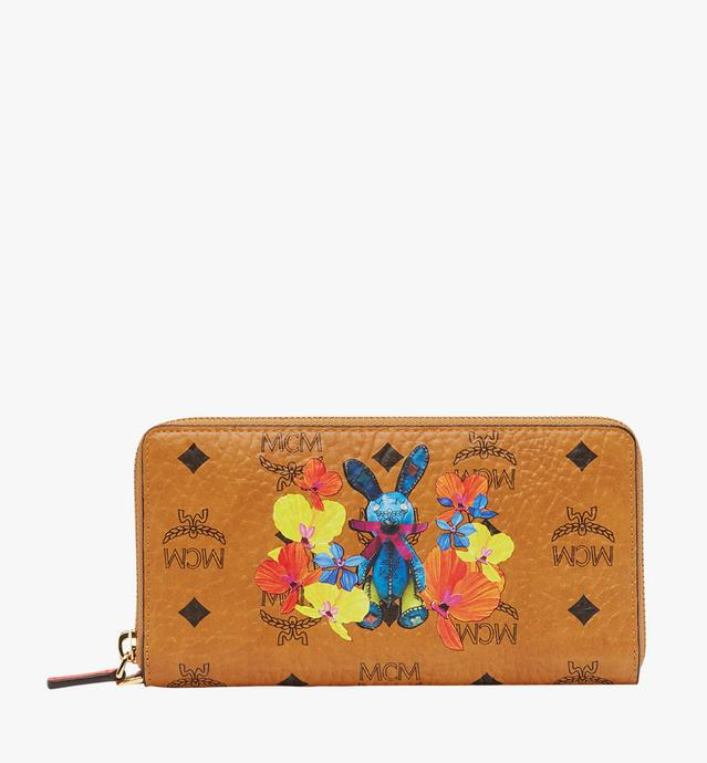 Rabbit Zip Around Wallet in Floral Visetos
