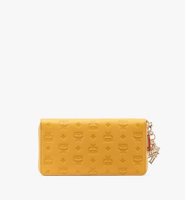 MCM Klara Zip Wallet in Monogram Leather Alternate View 2