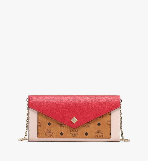 กระเป๋าสตางค์พับสองทบ Love Letter ลาย Visetos สีคัลเลอร์บล็อก