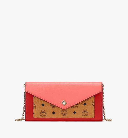 Love Letter Crossbody-Brieftasche aus Colorblock-Leder