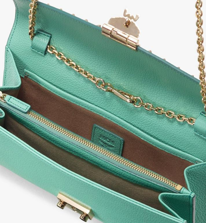 MCM Patricia Crossbody Wallet in Studded Park Ave Leather Green MYL9APA19G7001 Alternate View 3