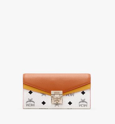Patricia Crossbody Wallet in Colorblock Leather
