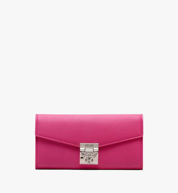 MCM Patricia Crossbody Wallet in Park Avenue Leather Pink MYL9APA41QS001 Alternate View 1