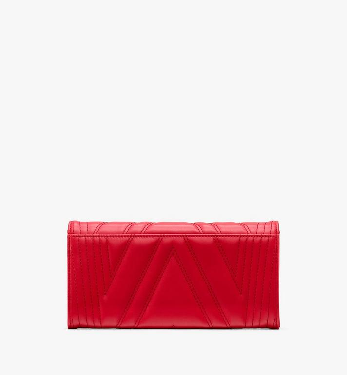 MCM Patricia Crossbody Wallet in Quilted Leather Red MYL9APA51RU001 Alternate View 2