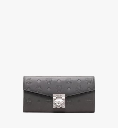 กระเป๋าสตางค์พับสองทบ Patricia ทำจากหนังพิมพ์ลายโมโนแกรม