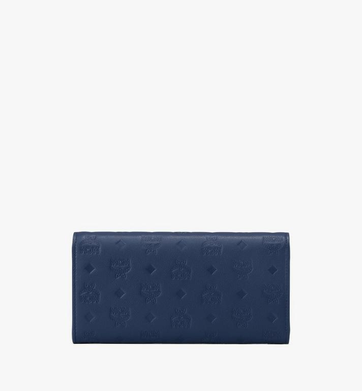 MCM Patricia Crossbody Wallet in Monogram Leather Blue MYL9APA55VA001 Alternate View 2