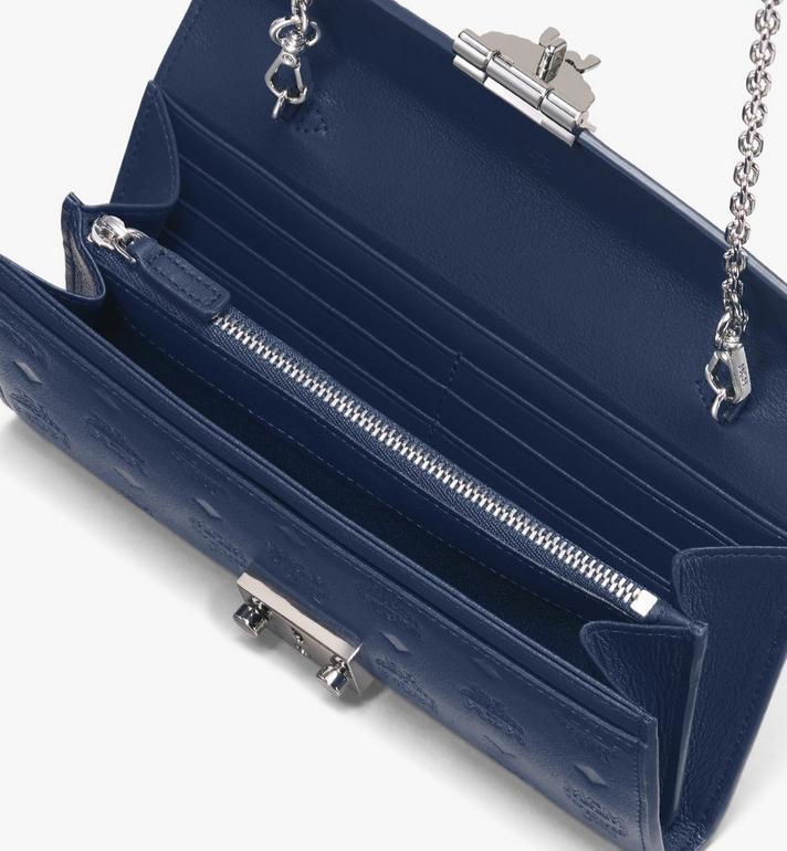 MCM Patricia Crossbody Wallet in Monogram Leather Blue MYL9APA55VA001 Alternate View 3