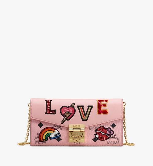 Gefaltete Patricia Brieftasche in Love Patch Visetos