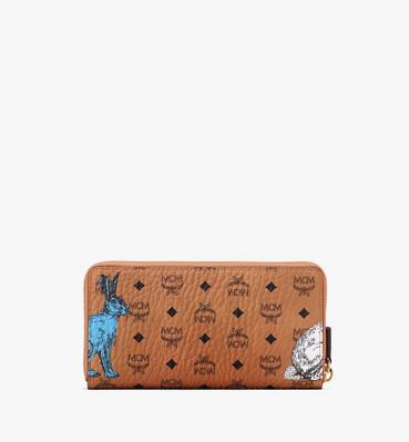 Hide-and-Seek Rabbit Zip Wallet