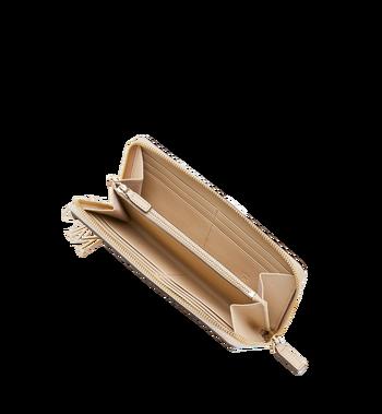 MCM Portefeuille zippé en cuir monogrammé avec breloque Alternate View 4