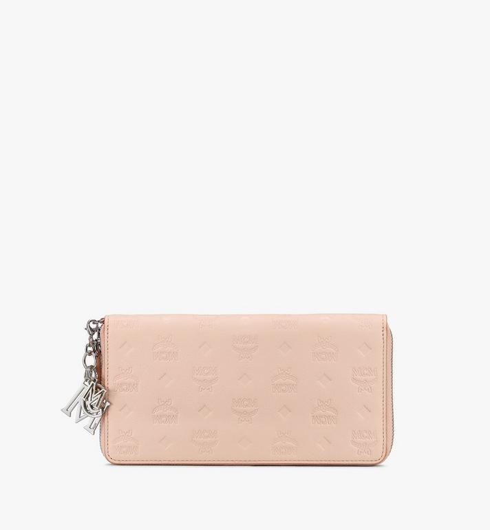 MCM Klara Zip Wallet in Monogram Leather Alternate View