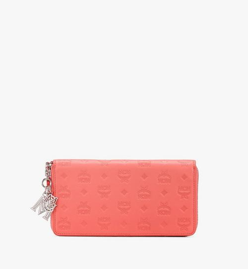 Klara Zip Wallet in Monogram Leather
