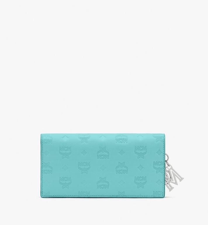 MCM Klara Bifold Wallet in Monogram Leather Blue MYL9SKM12H3001 Alternate View 2