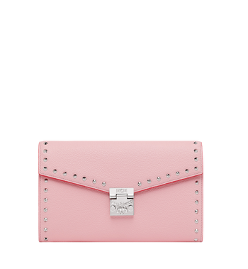 MCM Patricia Continental Brieftasche aus Studded Outline Leder Alternate View