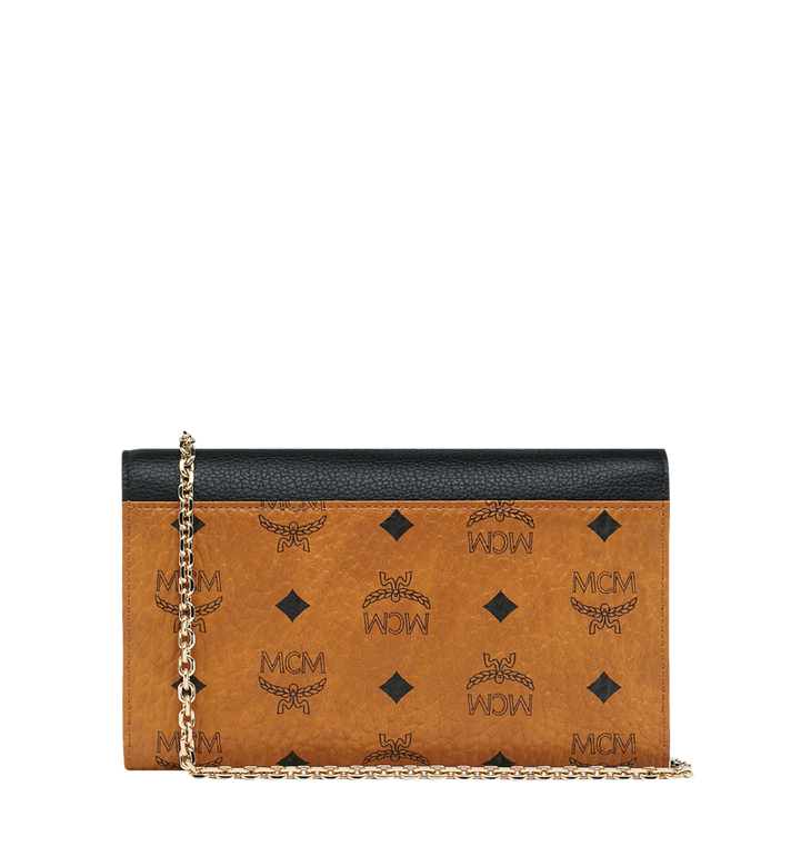 MCM Portefeuille et porte-cartes Patricia en Visetos Leather Block Alternate View 4