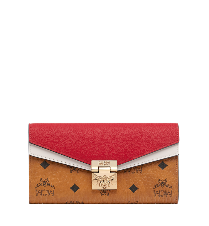 MCM Patricia Crossbody-Brieftasche in Visetos Leather Block Alternate View